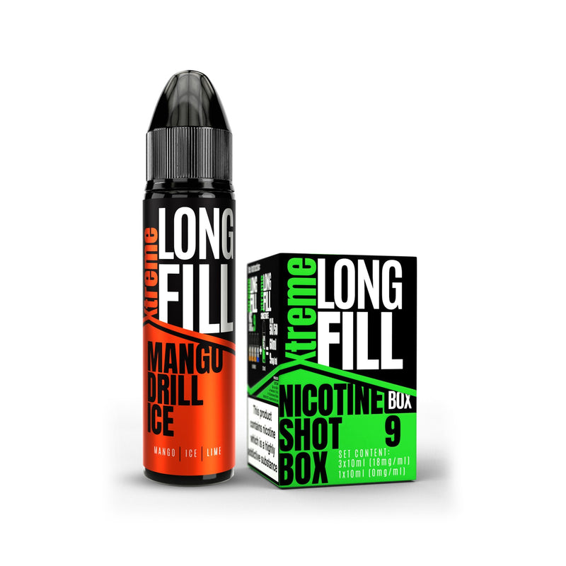 Xtreme Long Fill E-Liquid Mango Drill Ice 9MG - Medium Nicotine