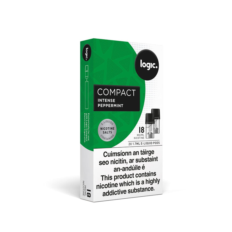 Logic Compact Intense Pods Peppermint 18MG - High Nicotine