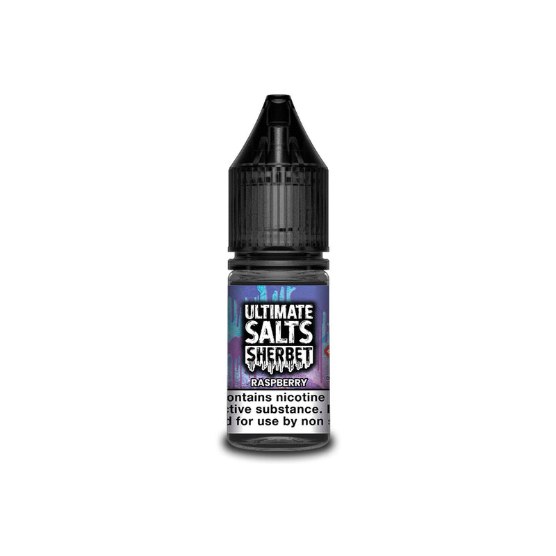 Ultimate Juice Nicotine Salt E-Liquid Raspberry Sherbet 10MG - Medium Nicotine