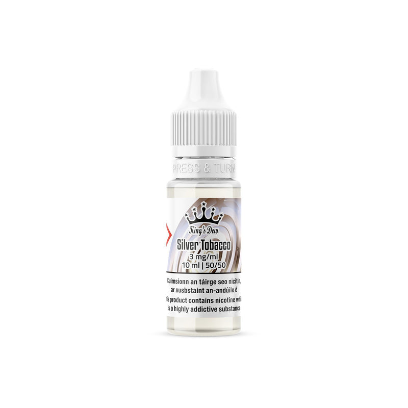 King's Dew E-Liquid Silver Tobacco 3MG - Very Low Nicotine