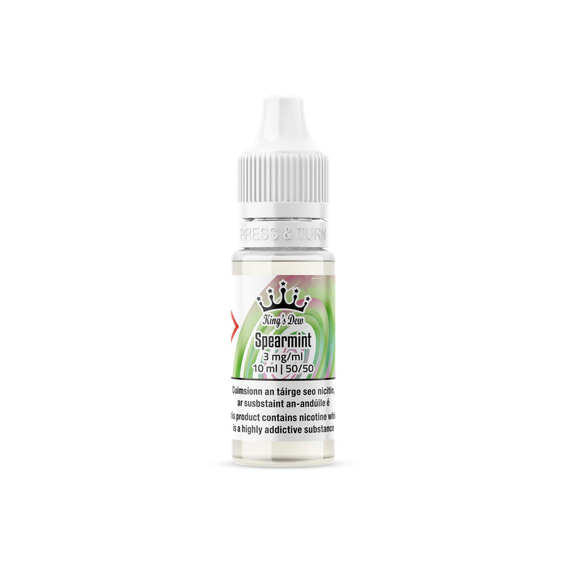 King's Dew E-Liquid Spearmint 3MG - Very Low Nicotine