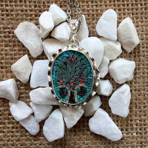 Tree Of Life (Turquoise-Oval)