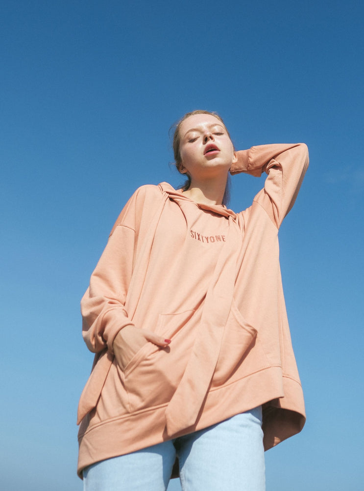 Load image into Gallery viewer, Darlene Fawn Hoodie In Coral