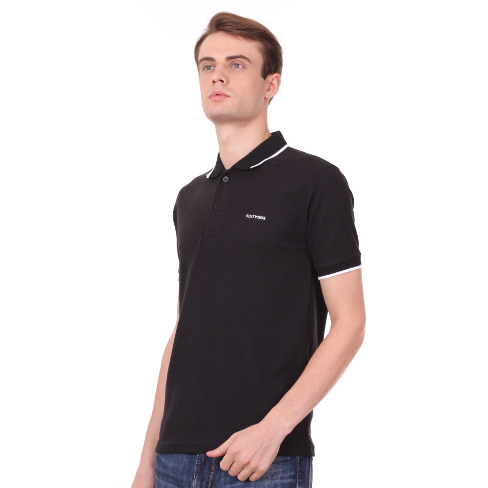 Number 61 Signature Polo in Black