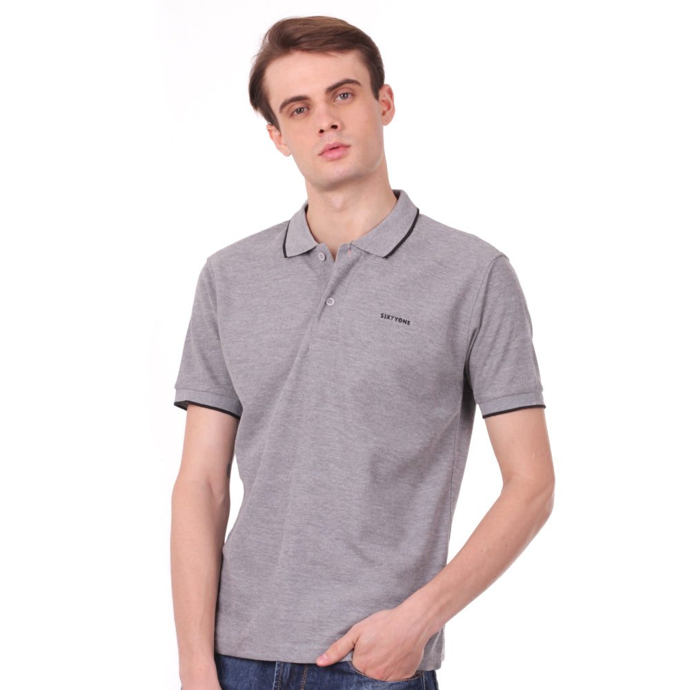 Number 61 Signature Polo in Grey