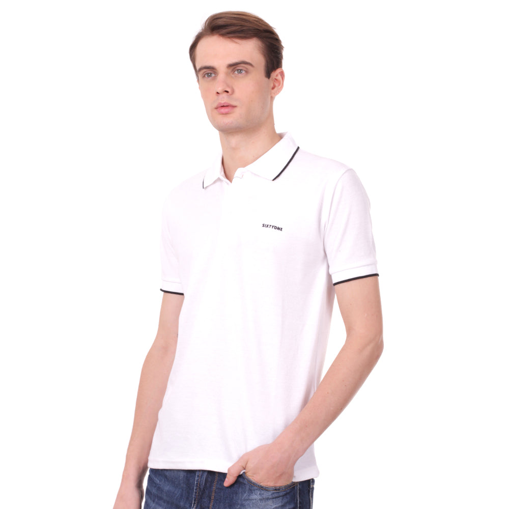 Number 61 Signature Polo in White