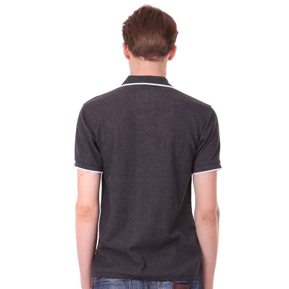 Number 61 Signature Polo in Dark Grey