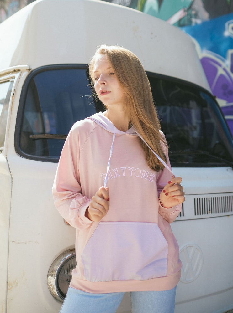 Whitney Pastel Color Hoodie In Pink