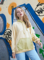 Whitney Pastel Color Hoodie In Yellow