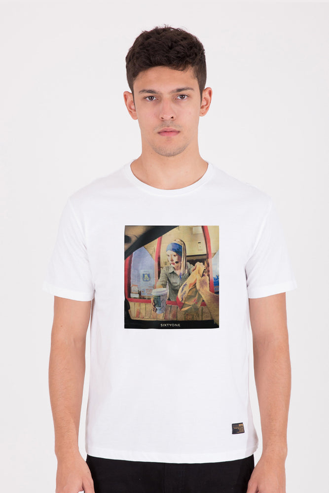 Load image into Gallery viewer, 61 Bikin Laper Drive White T-shirt