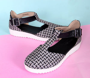Jackie Houndstooth Shoes