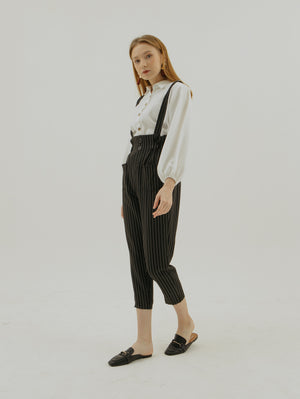 Load image into Gallery viewer, Ariana Stripe Suspender Jumpsuit