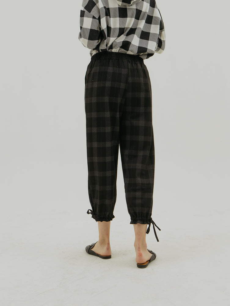 Belinda Black Checkered Pants