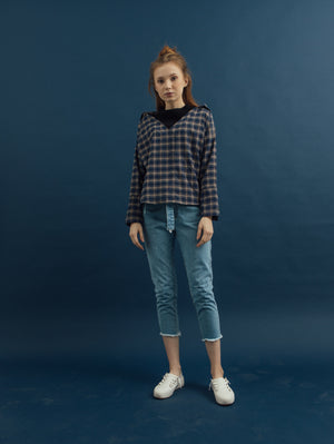 Pope Plaid Top