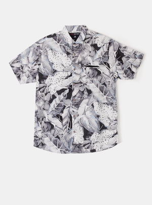 Xavier Palm White Shirt