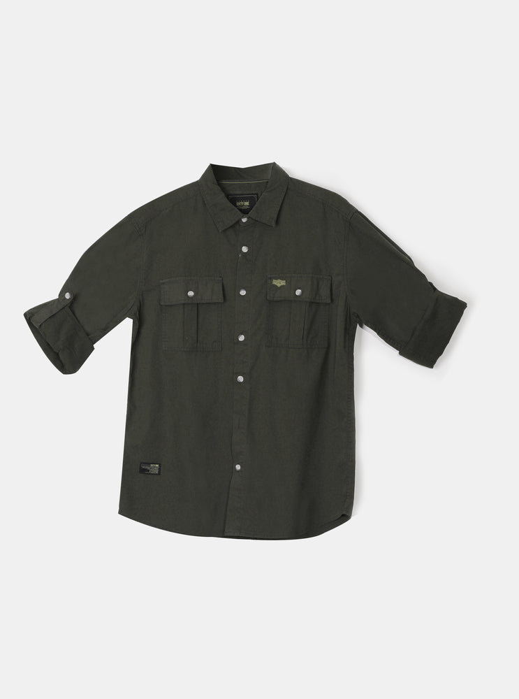 Load image into Gallery viewer, Aryk Olive Shirt