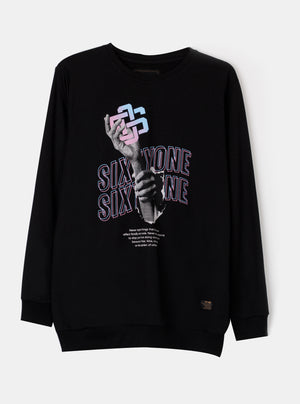 Load image into Gallery viewer, NSO Graphic Black Sweatshirt
