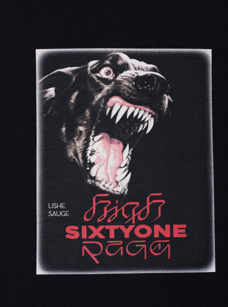 Load image into Gallery viewer, Crazy Dog Black T-shirt