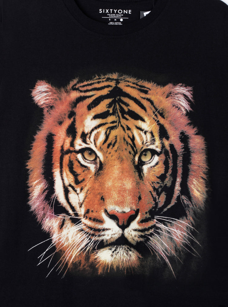 Load image into Gallery viewer, Orange Tiger In Black T-Shirt