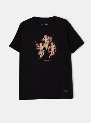 Load image into Gallery viewer, Eos Cupid Black T-shirt