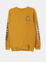Number 61 - Triangle Sweatshirt Mustard