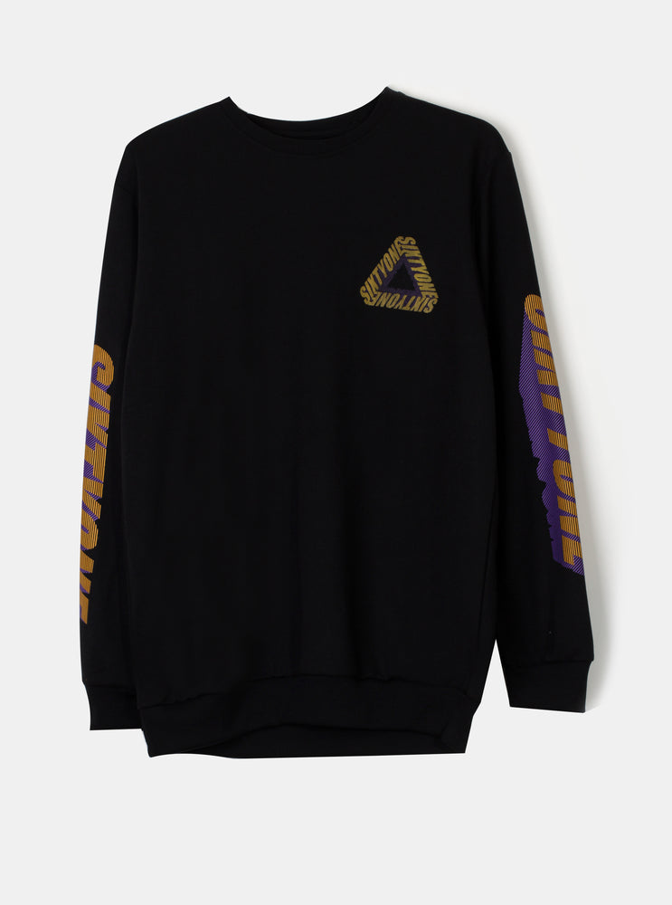 Load image into Gallery viewer, Number 61 - Triangle Sweatshirt Black