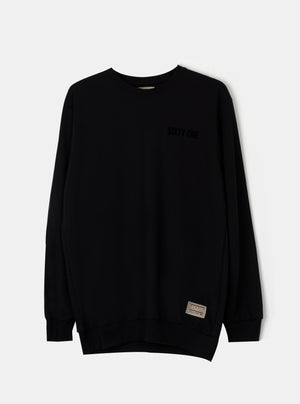 Load image into Gallery viewer, Number 61 - Man STO Sixtyone Logo Sweatshirt Black