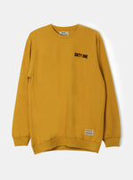 Number 61 - Man STO Sixtyone Logo Sweatshirt Yellow