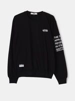 Number 61 - Mueko Zipper Black Sweatshirt