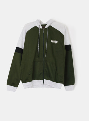 Number 61 - Aranzo Two Tone Jacket in Green