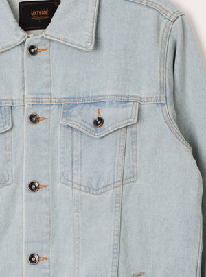 Load image into Gallery viewer, Number 61 - Quinn Washed Blue Denim Jacket