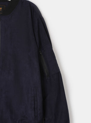 Load image into Gallery viewer, Kevin Suede Bomber Jacket Navy