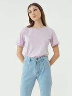 Number 61 Lipat Basic Women T-shirt in Purple