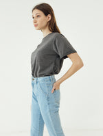 Number 61 Lipat Basic Women T-shirt in Dark Grey