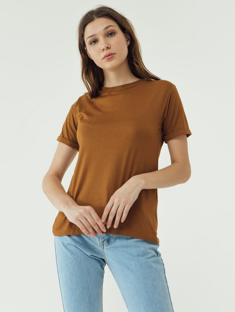 Load image into Gallery viewer, Number 61 Lipat Basic Women T-shirt in Oak