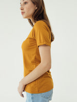 Number 61 Lipat Basic Women T-shirt in Mustard