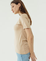 Number 61 Lipat Basic Women T-shirt in Tan