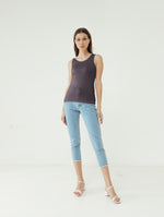 Number 61 - Basic Tank Top Wanita Purple