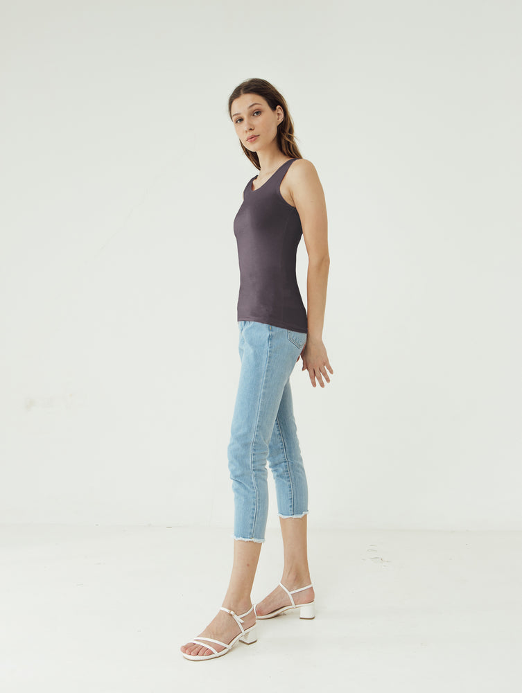 Load image into Gallery viewer, Number 61 - Basic Tank Top Wanita Purple