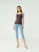 Number 61 - Basic Tank Top Tali Wanita Purple