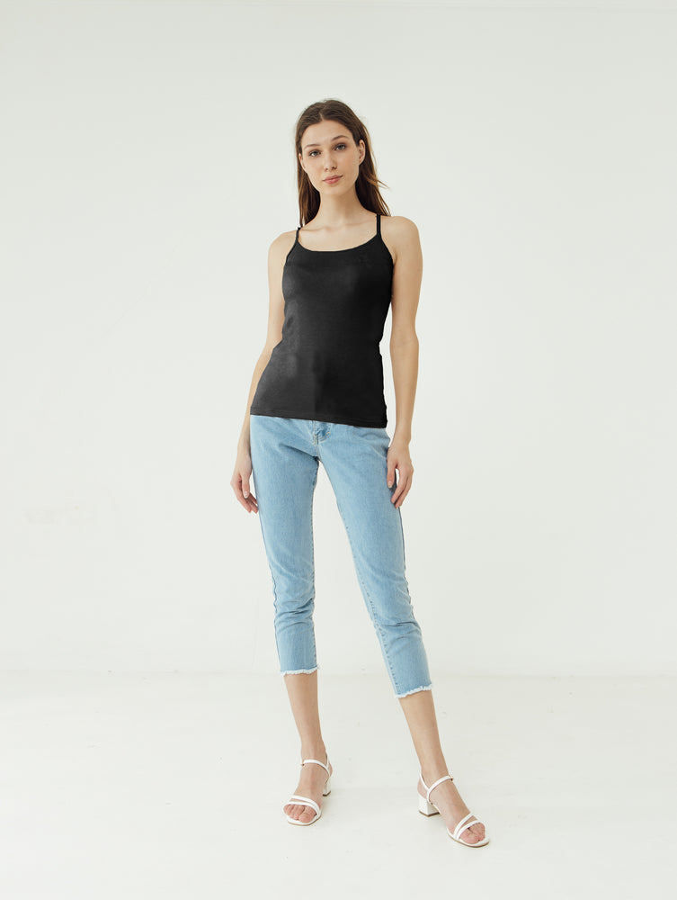 Load image into Gallery viewer, Number 61 - Basic Tank Top Tali Wanita Black