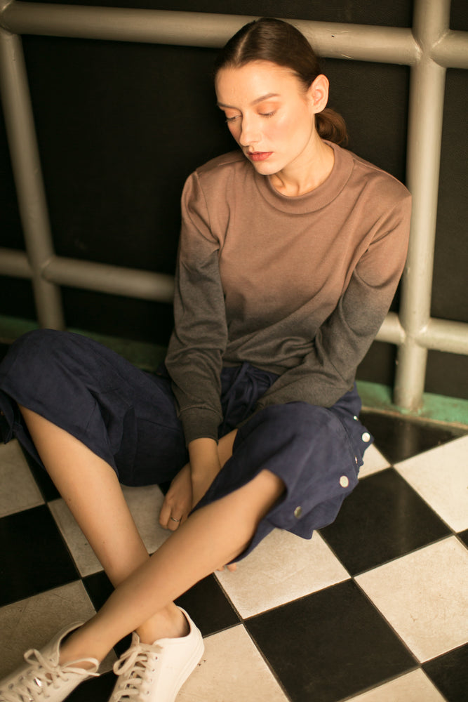 Gradation Grey Sweater