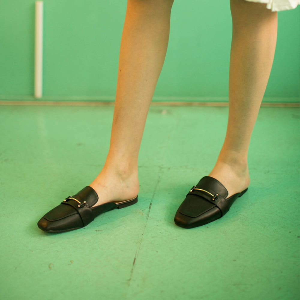 Pat Black Flat Shoes