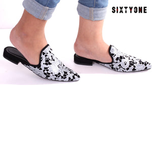 Flower White Lace Shoes