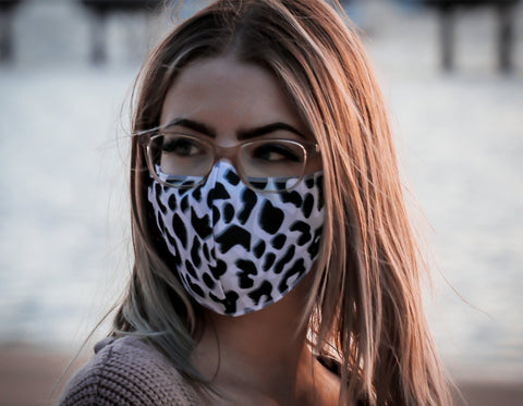 The Mask Life double sided face mask leopard