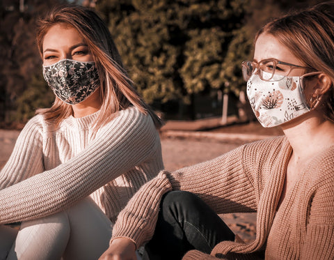 The Mask Life Autumn Breeze reversible face mask