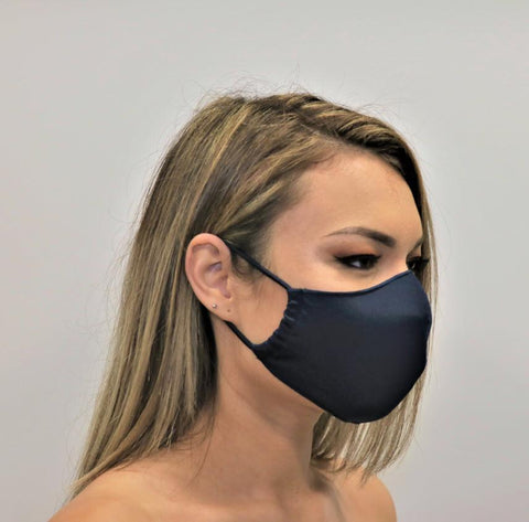 The Mask Life Navy reversible face mask