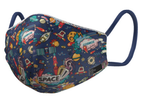 The Mask Life Children's face mask outer space
