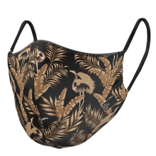 Load image into Gallery viewer, The Gold Fern - Reversible Face Mask - The Mask Life.