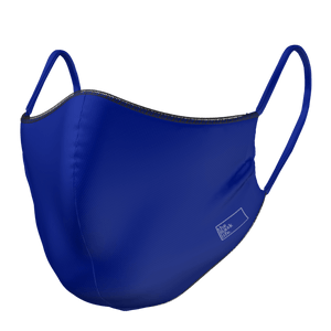 Black / Navy Face Mask - SANITIZED Antimicrobial Material - The Mask Life.